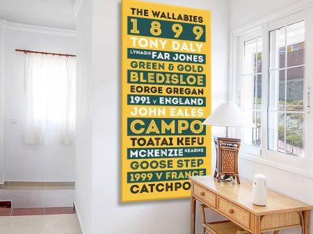 Buy a Gold & Green Wallabies Tram Banner