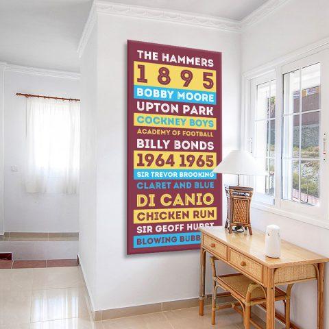 Buy West Ham Football Club Tram Scroll Art