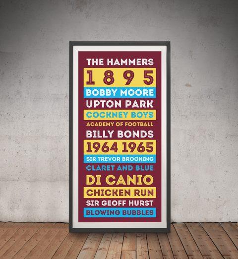 Buy a Retro West Ham FC Tram Banner AU