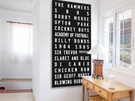 Buy a West Ham United Classic Tram Banner