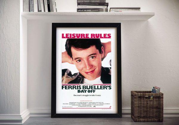 Buy Retro Poster Art for Ferris Bueller's Day Off