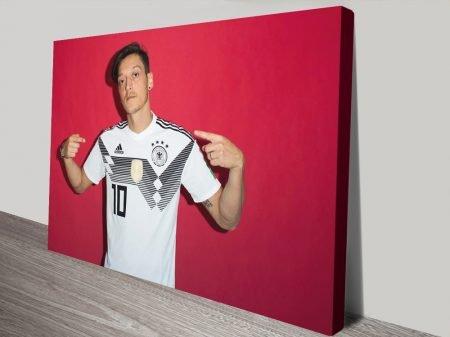 Buy a Canvas Print of Footballer Mesut Ozil