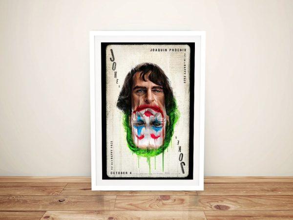 Buy Joker Framed Canvas Movie Art AU
