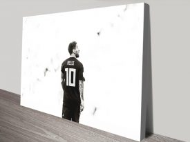Buy Monochrome Lionel Messi Framed Artwork