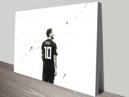 Buy Monochrome Lionel Messi Framed Artwork
