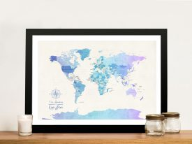 Buy a Blue Tones Political World Map