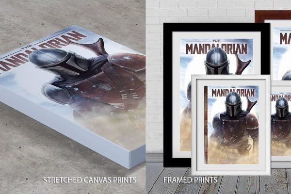 The mandalorian Quality Print