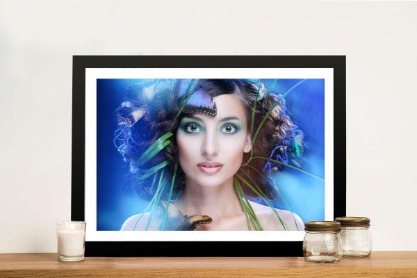 Buy Winged Beauty Glamourous Portrait Art