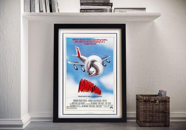 Airplane Vintage Movie Poster on Canvas