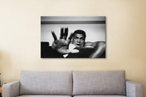 Buy Black & White Muhammad Ali Artwork
