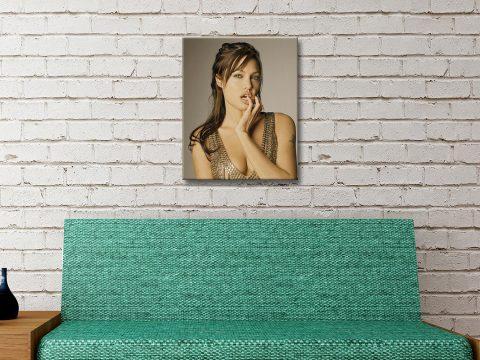 Buy a Portrait Print of Angelina Jolie Online