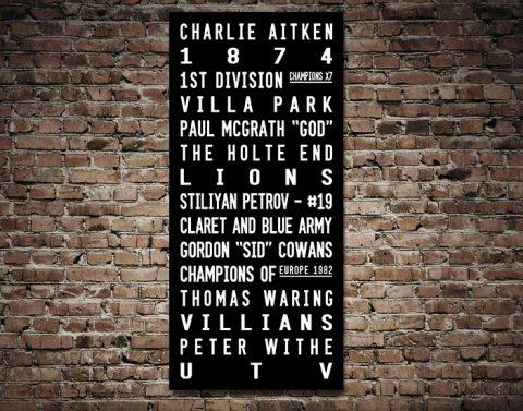 Buy Aston Villa FC Wall Art Cheap Online