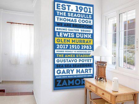 Buy Brighton & Hove FC Team Colours Tram Art