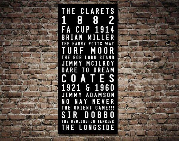Buy Football Memorabilia fot Burnley FC