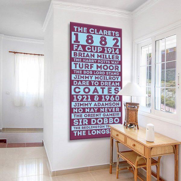 Buy Burnley FC Tram Banner Canvas Art