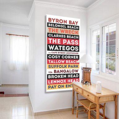 Buy a Byron Bay Tram Scroll in a Retro Style