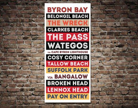 Buy Byron Bay Ready to Hang Tram Artwork