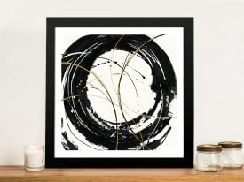 Buy Circular Web Abstract Framed Art