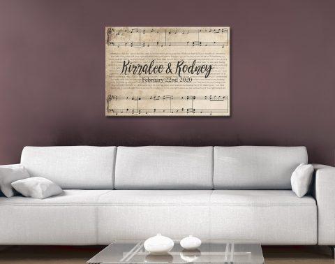Buy Custom Sheet Music Art Unique Gifts Online