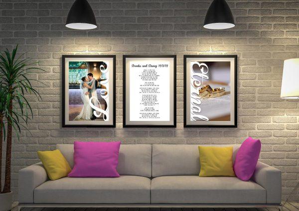 3-piece marriage vows artwork