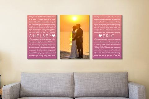 3 Piece Marriage Vows Canvas Print