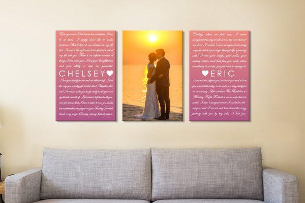 3 Piece Marriage Vows Canvas Print