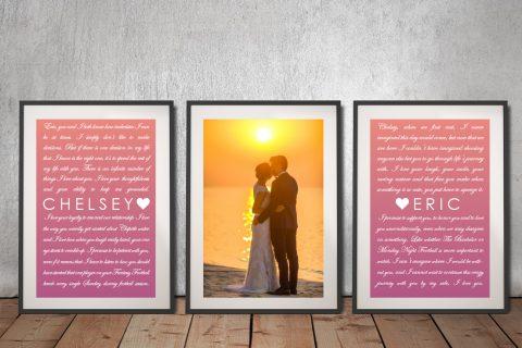 3 Piece Marriage Vows Art