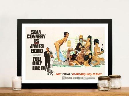 Buy Vintage James Bond Movie Wall Art