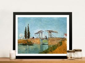 Langlois Bridge by Van Gogh Framed Wall Art