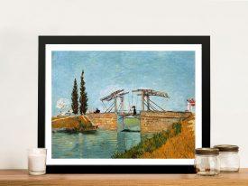 Langlois Bridge by Van Gogh Framed Wall Art