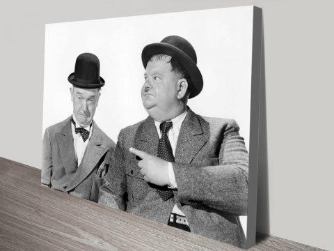 Buy Laurel & Hardy Framed Canvas Art