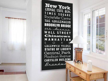 Buy a Multi Font Tram Scroll for New York
