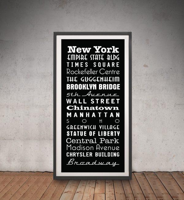 Buy Multi Font Black & White Tram Banner Art