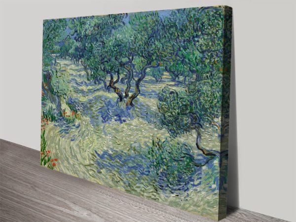 Olive Orchard Van Gogh canvas print