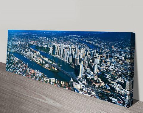 Buy Brisbane Cityscape Panoramic Wall Art AU