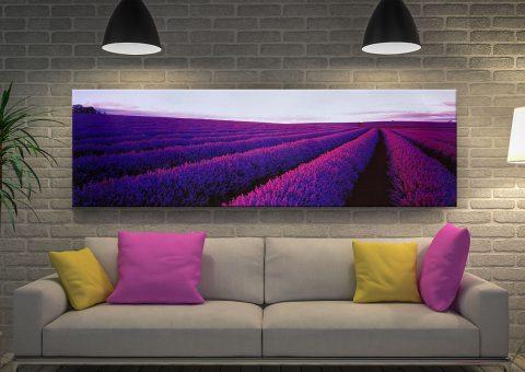 Lavender in Tasmania by Peter Lik Panoramic Wall Art