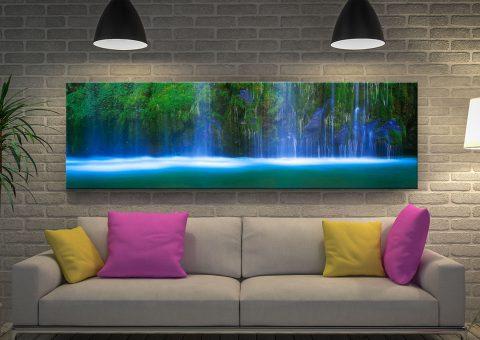 Buy Waterfall Panoramic Canvas Print