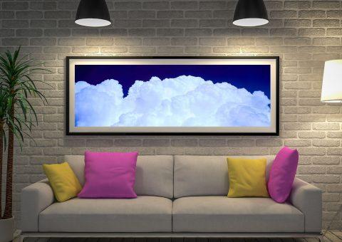 Clouds Photo Framed Art Print