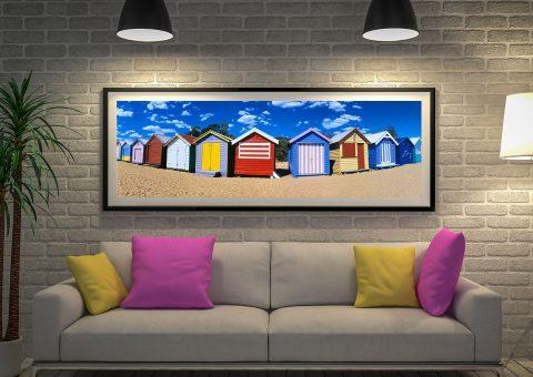Buy Melbourne Beach Boxes Panoramic Artwork