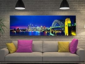 Buy a Framed Sydney Night Panoramic Print
