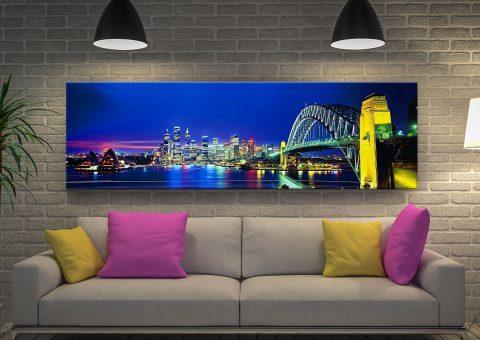 Buy a Framed Sydney Night Panoramic Print