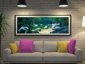 Serenity Panoramic Photo Canvas Art Print by Peter Lik