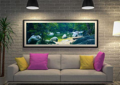 Serenity Panoramic Photo Canvas Art Print by Peter Lik