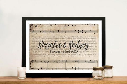 Buy Personalised Sheet Music Canvas Prints AU
