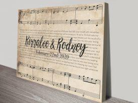 Buy Framed Custom Sheet Music Artwork