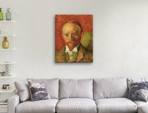 Portrait of the Art Dealer Alexander Reid by Van Gogh Canvas Artwork