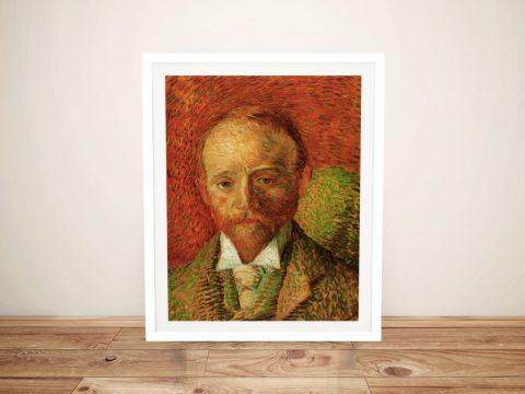 Portrait of the Art Dealer Alexander Reid by Van Gogh Framed Wall Art