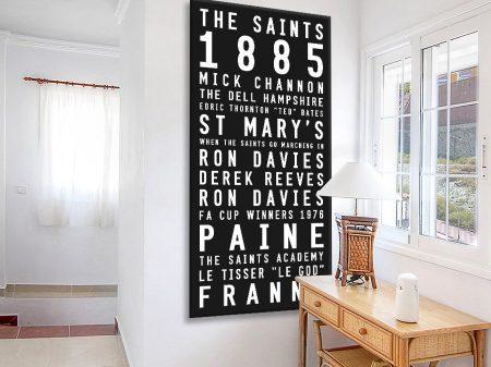 Buy Tram Scroll Wall Art for The Saints