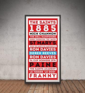 Buy The Saints Tram Scroll Art Cheap Online