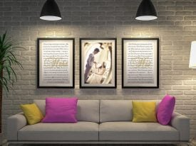 Personalised 3-Piece Wedding Vows Art